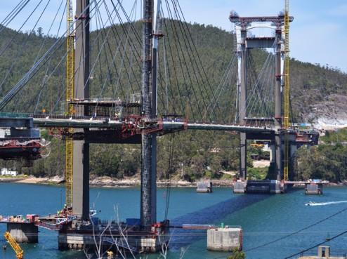TALLERES MECÁNICOS GALICIA participa activamente en la obra de ampliación del emblemático puente de Rande