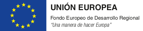 Fondo Europeo de Desarrollo Regional.
