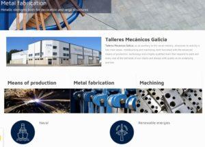 Captura de la página principal de nuestro website