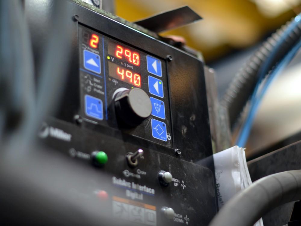 Detalle de la pantalla de control del nuevo arco sumergido